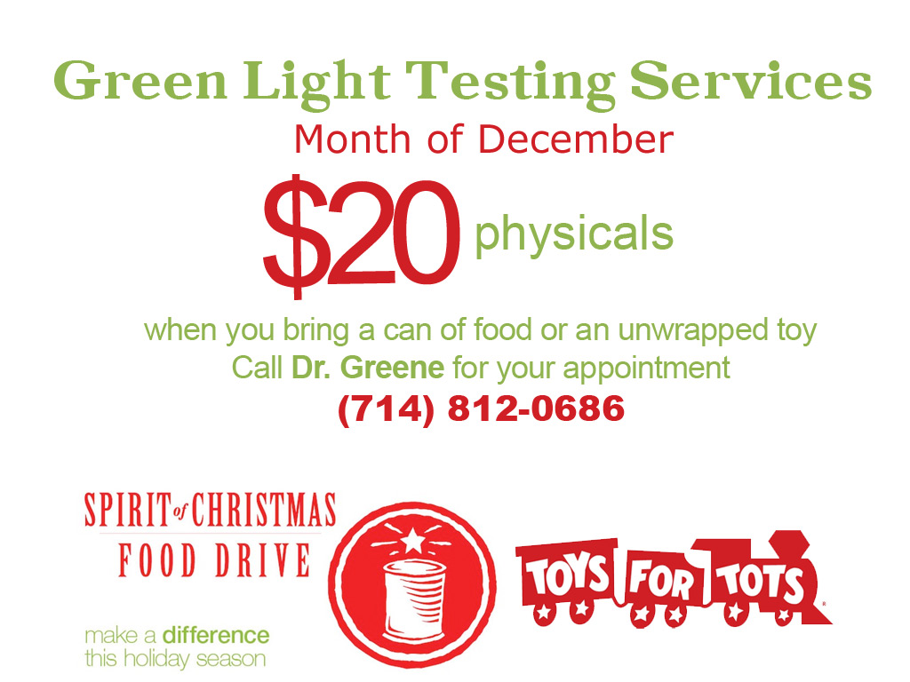 dot physicals month of december savings